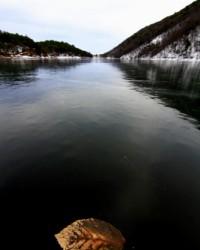 Saklı Cennet Borabay Gölü dondu