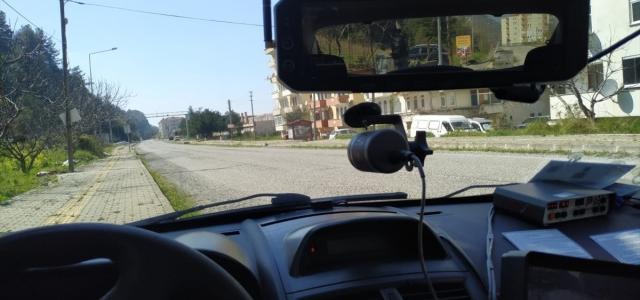 Abana'da radarla hız denetimi