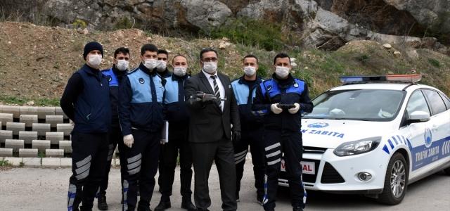 Amasya'da zabıtadan dronla koronavirüs denetimi