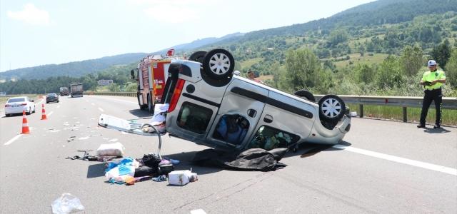 Anadolu Otoyolu'nda trafik kazası: 1 ölü, 3 yaralı