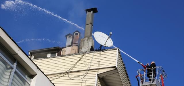 Artvin'de çatı yangını
