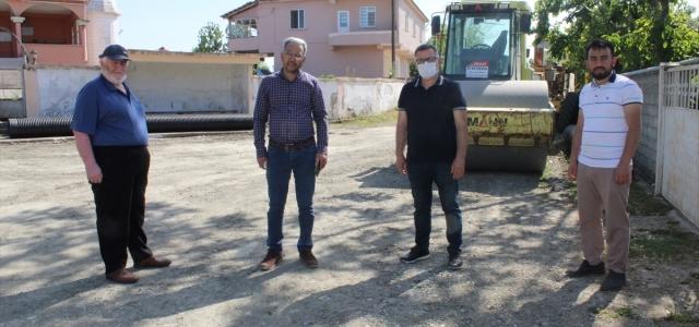 Bafra'da grup yolunun sıcak asfalt yapılması talebi