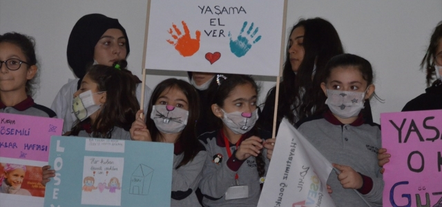 Bafra'da Kızılay ve Lösemili Çocuklar Haftası kutlandı