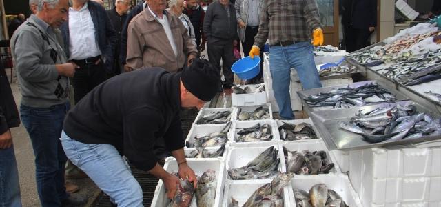 Balıkçı tezgahları karagöz, eşkina ve minekop ile şenlendi