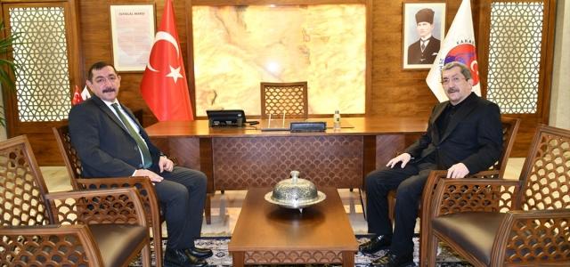 Başkan Vidinlioğlu'ndan Vergili'ye ziyaret