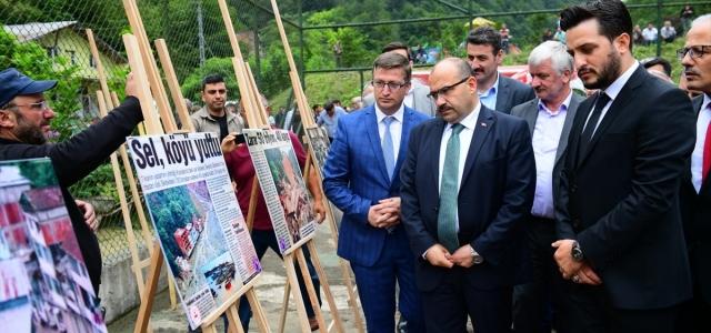 Beşköy'deki sel ve heyelanlarda hayatını kaybedenler anıldı