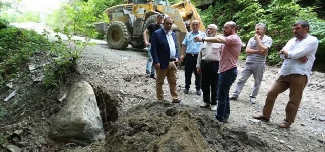 Canik Belediyesi yağışın etkili olduğu alanlarda çalışma başlattı