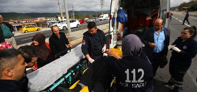 """Düzce'de """"makas atan"""" sürücü zincirleme kazaya neden oldu"""