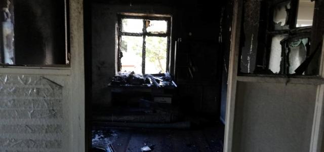 Düzce'de selde zarar gören camide çıkan yangın hasara neden oldu