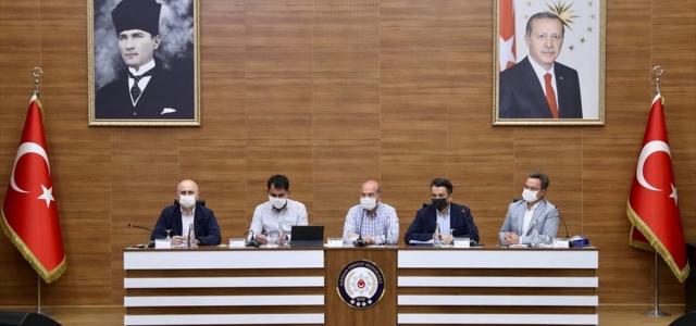 Giresun'da bakanların katılımıyla Hasar Tespit ve Koordinasyon Toplantısı yapıldı