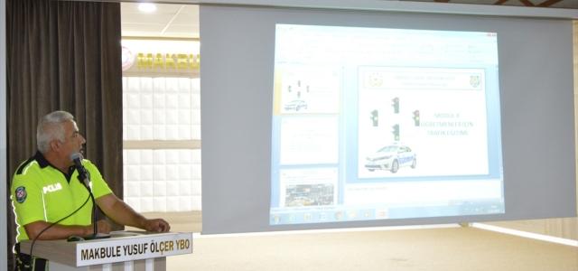 Havza'da öğretmenlere trafik eğitimi