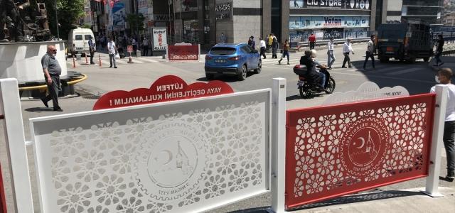 Karabük'te yollarda uyarı bulunan korkuluk çalışması