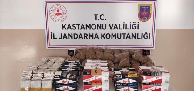 Kastamonu'da kaçak tütün ürünleri satan kişi yakalandı