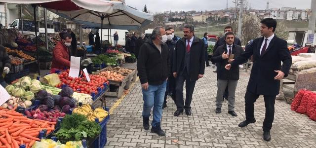 Kaymakam Şenay'dan halk pazarında inceleme