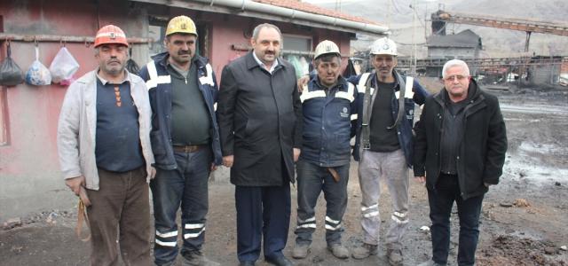 Madencilerden depremzedelere yardım