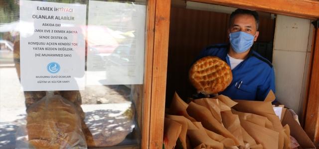 Mudurnu'da askıda ekmek kampanyası