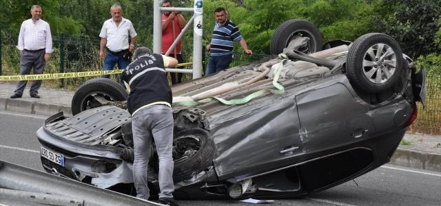 Ordu'da takla atan otomobilin sürücüsü öldü