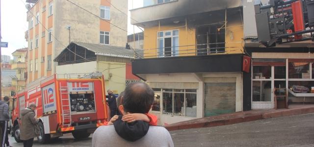 Samsun'da evde çakmakla oynayan çocuk yangına neden oldu
