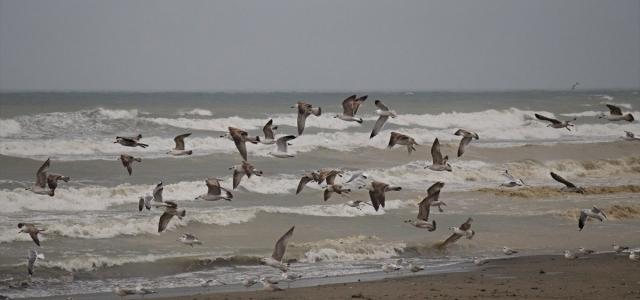 Samsun'da fırtına nedeniyle balıkçı tekneleri denize açılamadı
