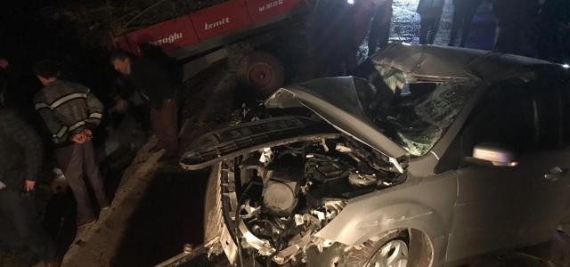 Samsun'da iki ayrı trafik kazasında 3 kişi yaralandı