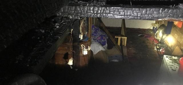 Taşköprü'de yangın sonucu bir evde hasar oluştu