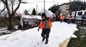 Altınordu'da ihtiyaç sahiplerine yakacak yardımı