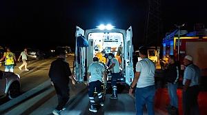 Amasya'da otomobil ile hafif ticari araç çarpıştı: 9 yaralı