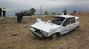 Amasya'da otomobil şarampole devrildi: 1 ölü, 1 yaralı
