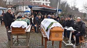 Aynı gün ölen yaşlı çift toprağa verildi