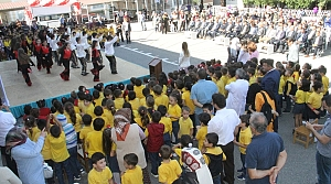 Bafra'da eğitim öğretim yılının başlaması dolayısıyla tören