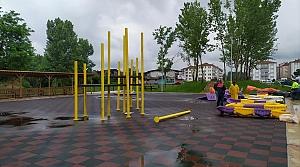 Bartın'da park yapım çalışmaları