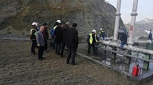 Belediye Başkanı Uçar atık sızıntısı olan maden bölgesinde inceleme yaptı