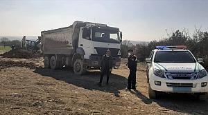 Bursa'da kaçak hafriyat döken firmaya 276 bin 588 lira ceza uygulandı