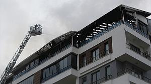 Çorum'da 8 katlı apartmanda çıkan yangın maddi hasara neden oldu