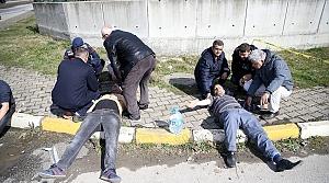 Düzce'de işçi servisiyle hafriyat kamyonu çapıştı: 15 yaralı