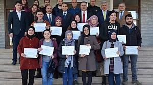 Görele'de başarılı kursiyerler belgeleri verildi