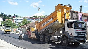 Havza'da asfaltlama çalışmaları devam ediyor
