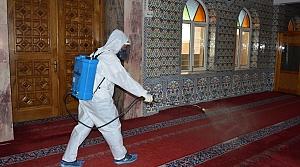 Havza'da camiler dezenfekte edildi