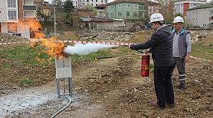 Havza'da yangın tatbikatı