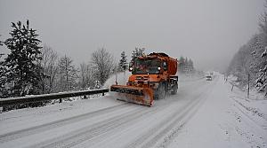 İnebolu'da kar yağışı