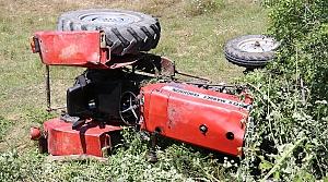 Karabük'te devrilen traktörün sürücüsü öldü