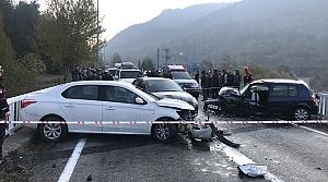 Karabük'teki zincirleme trafik kazasında 4 kişi yaralandı