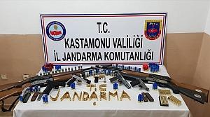 Kastamonu'da silah kaçakçılığı iddiasıyla 5 şüpheli yakalandı