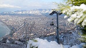 Ordu Boztepe'de kar nedeniyle yoğunluk oluştu