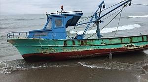 Samsun'da çalınan balıkçı teknesi Giresun'da bulundu