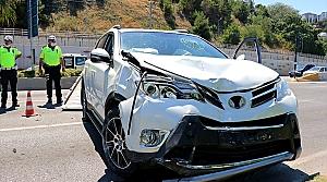 Samsun'da hafif ticari araç ile cip çarpıştı: 5 yaralı