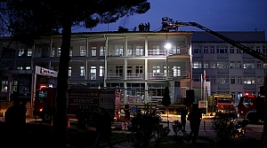 Samsun'da hastanede çıkan yangın hasara neden oldu