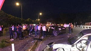 Samsun'da iki otomobil çarpıştı: 1 ölü, 3 yaralı