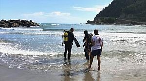 Sinop'ta denizde kaybolan kişiyi arama çalışmasına devam edildi