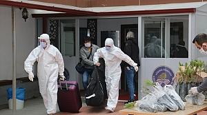 Sinop'ta karantina süresi dolan 195 kişi evlerine uğurlandı